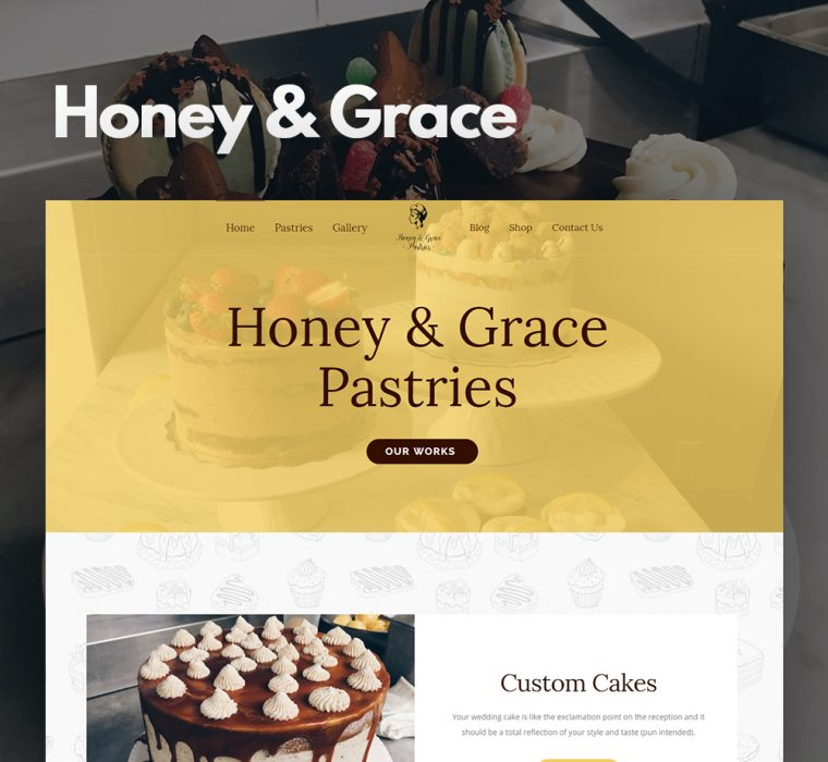 Honey and Grace Canada Website Design