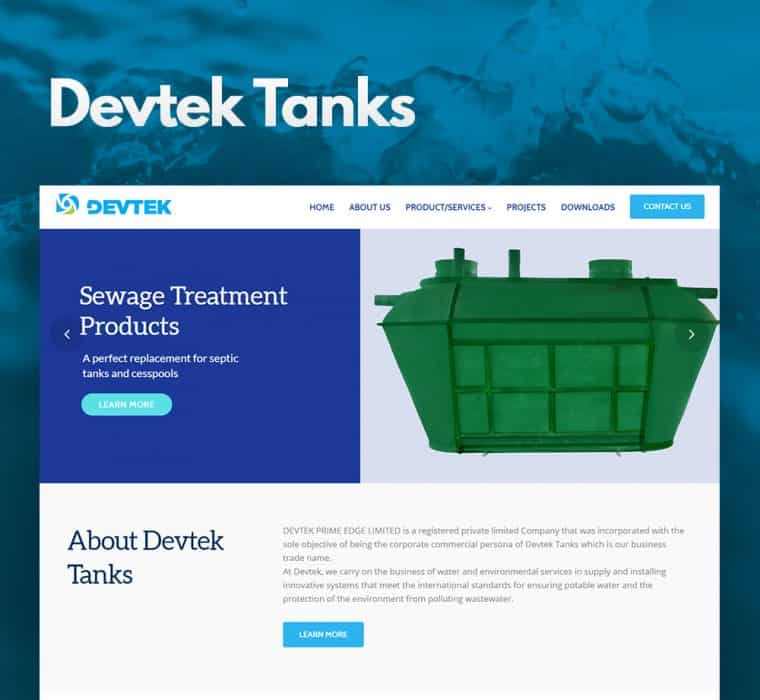 Devtek Tanks Nigeria Website Design